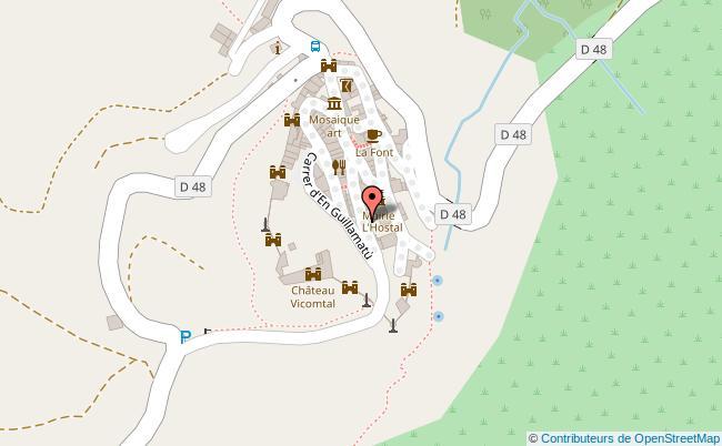 plan Mairie de Castelnou