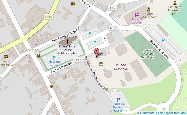 plan Musée Airborne de Sainte-Mère-Eglise Sainte-Mère-Eglise