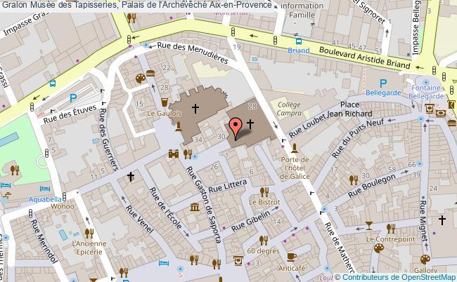 plan Musée des Tapisseries, Palais de l'Archevêché Aix en Provence