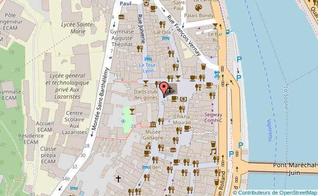 plan MUSEE GADAGNE - MUSEE HISTORIQUE DE LYON - MUSEE INTERNATIONAL DE LA MARIONETTE