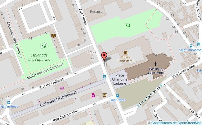 plan Musée Historique Saint-Remi Reims