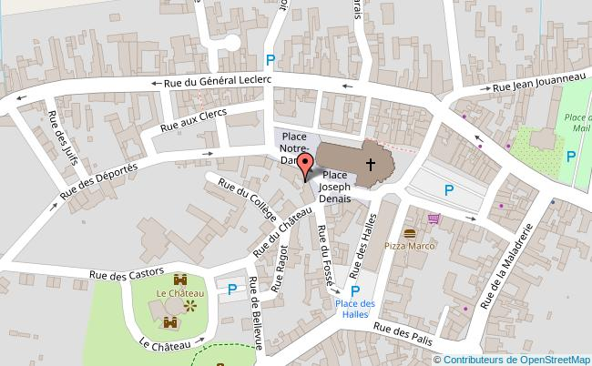 plan Musée Joseph Denais Beaufort-en-Vallée