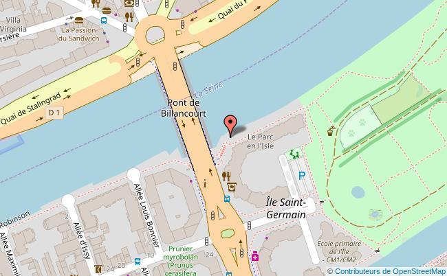 plan Parc de l'Ile Saint-Germain Issy-les-Moulineaux