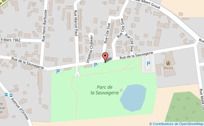 plan PARC DE LA SAUVAGERIE Varennes-sur-Seine