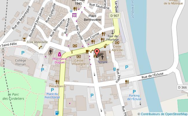 plan Parc des Cordeliers Anduze