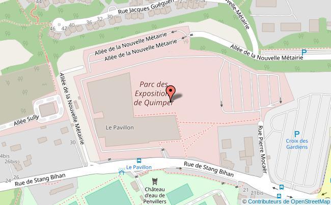 plan Parc des expositions Quimper Cornouaille Quimper