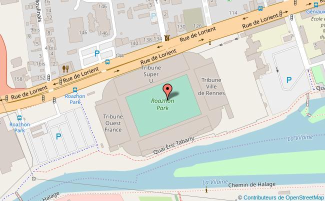 plan Parc des Sports - Stade Rennais Rennes