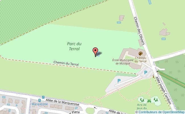 plan Parc du Terral Saint-Jean-de-Védas