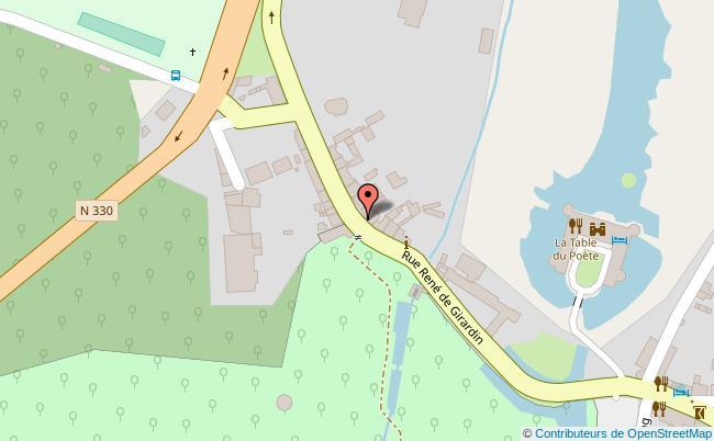 plan Parc Jean-Jacques Rousseau Ermenonville