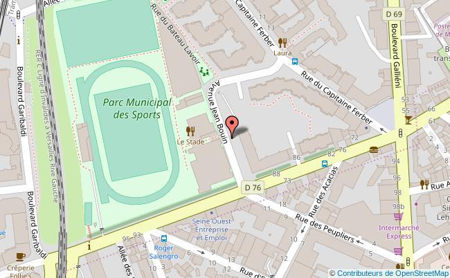 plan PARC MUNICIPAL DES SPORTS Issy-les-Moulineaux
