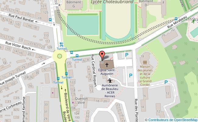 plan Parking de l'église St-Augustin Rennes