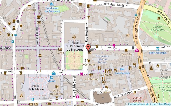 plan PARLEMENT DE BRETAGNE Rennes