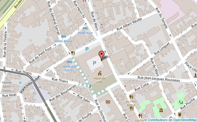plan PLACE BOULINGRIN Reims