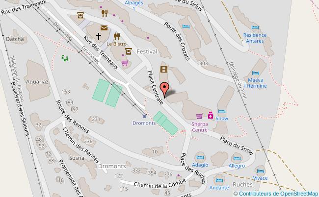 plan Place centrale d'Avoriaz