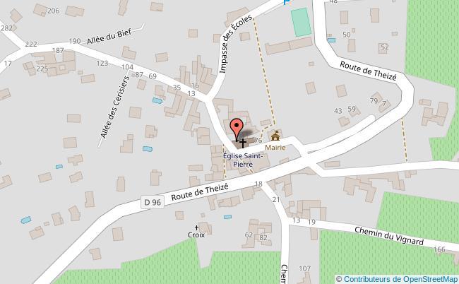plan Place de l'Eglise d'Anse Anse
