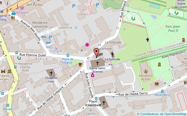 plan Place de l'Hôtel de Ville d'Issy les Moulineaux Issy-les-Moulineaux