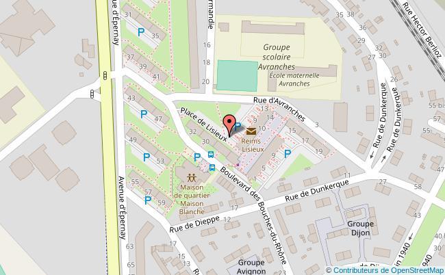 plan Place de Lisieux Reims