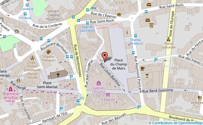 plan Place du Champ-de-Mars Angoulême