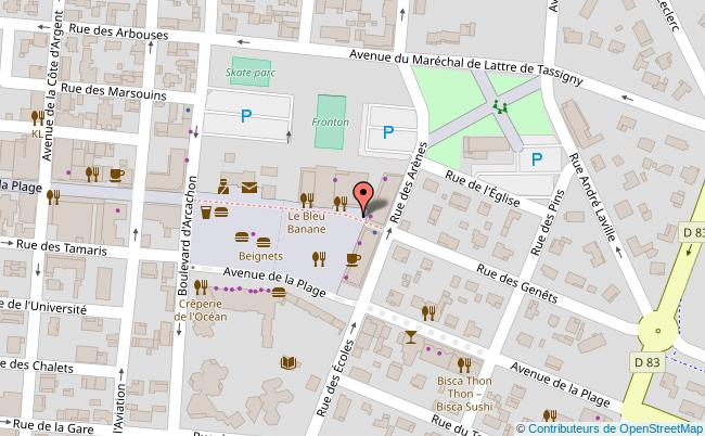 plan Place G. Dufau à Biscarosse Biscarrosse