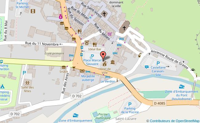 plan Place Marcel-Sauvaire Castellane