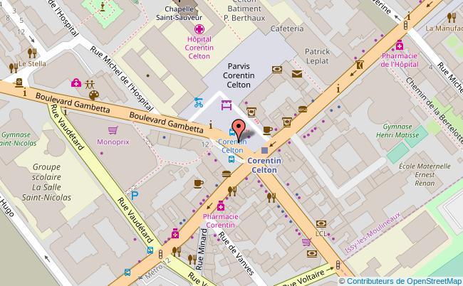 plan PLACE PAUL VAILLANT-COUTURIER - PARVIS CORENTIN CELTON Issy-les-Moulineaux
