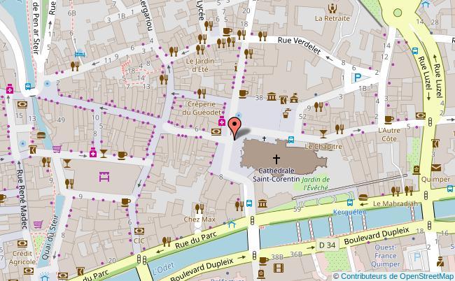 plan Place Saint Corentin Quimper
