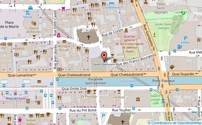 plan Place Saint-Germain Rennes