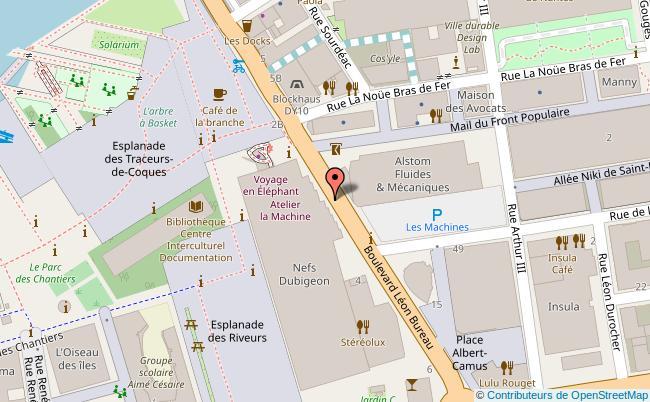 plan Plateforme Intermédia - La Fabrique - APO 33 Nantes
