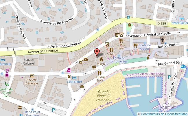 plan Port du Lavandou