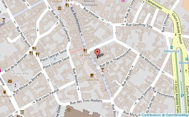 plan Quartier Bourbonnoux Bourges