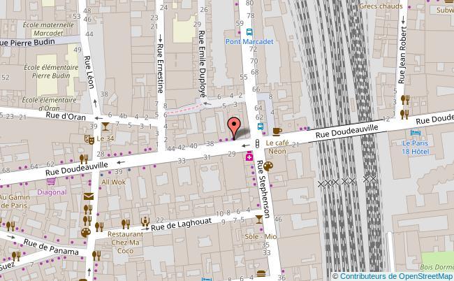 plan Quartier de la Goutte d'Or Paris