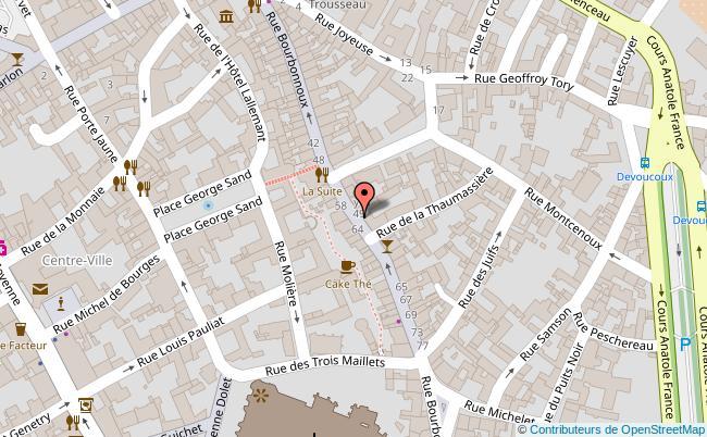 plan Rue Bourbonnoux Bourges