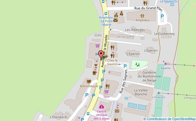 plan STATION DES DEUX ALPES Les-Deux-Alpes