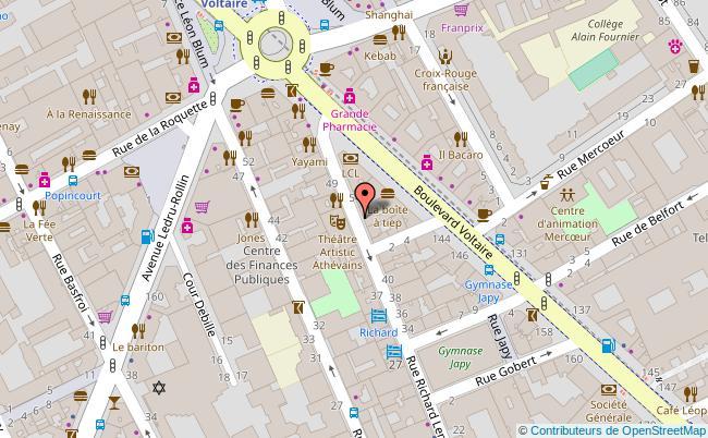 plan THEATRE ARTISTIC ATHEVAINS Paris