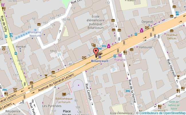 plan THEATRE DE LA CLARTE Boulogne-Billancourt