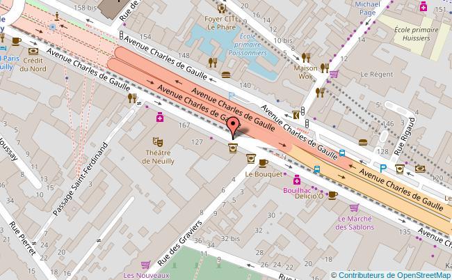 plan THEATRE DE NEUILLY Neuilly-sur-Seine