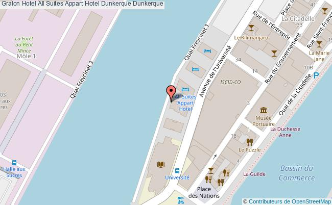 plan All Suites Appart Hotel Dunkerque Dunkerque