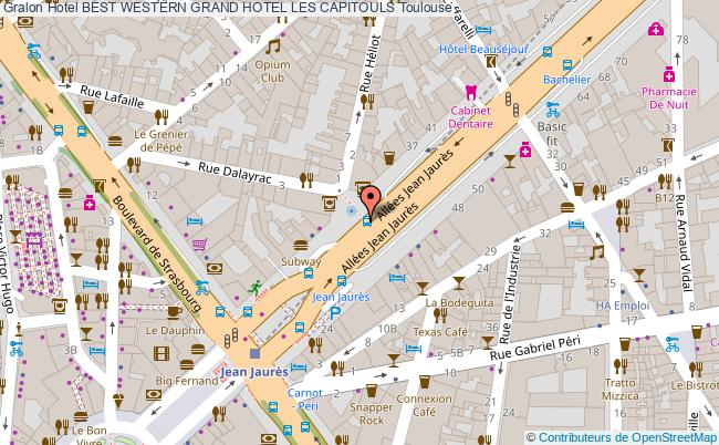 plan Best Western Grand Hotel Les Capitouls Toulouse