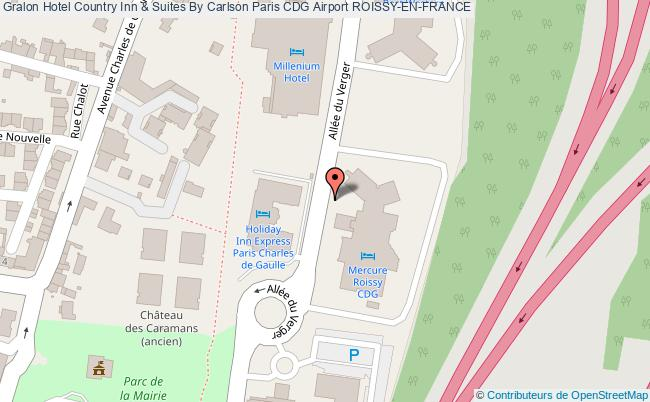 plan Hotel Country Inn & Suites By Carlson Paris Cdg Airport ROISSY-EN-FRANCE