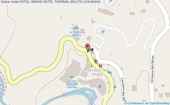 plan Hotel Grand Hotel Thermal MOLITG-LES-BAINS