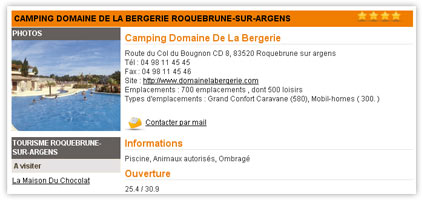 Exemple fiche camping