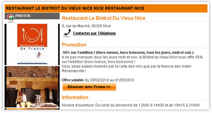 Exemple fiche restaurant