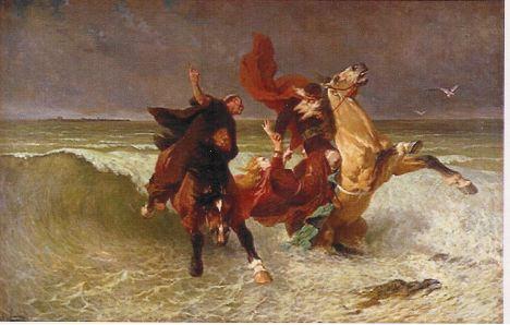 la fuite de roi Gralon