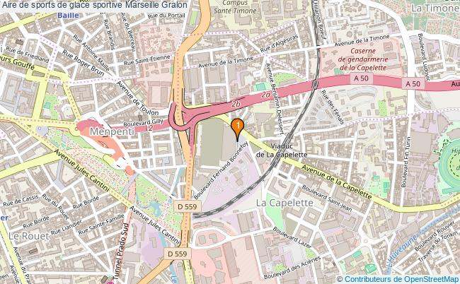 plan Aire de sports de glace sportive Marseille : 1 équipements