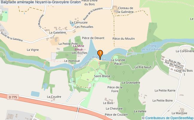 plan Baignade aménagée Noyant-la-Gravoyère : 1 équipements