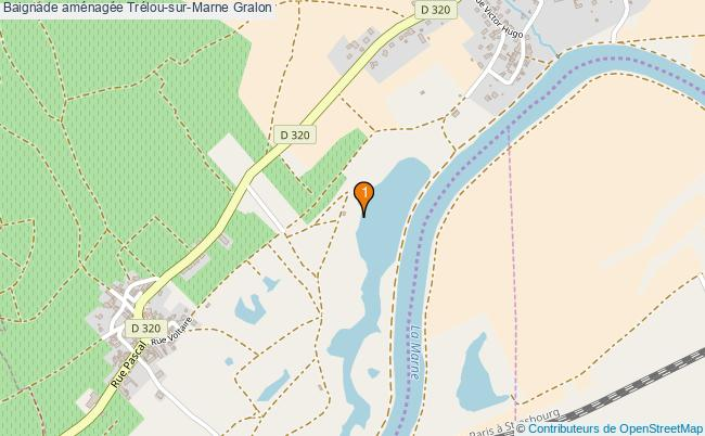 plan Baignade aménagée Trélou-sur-Marne : 1 équipements