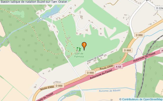 plan Bassin ludique de natation Buzet-sur-Tarn : 1 équipements