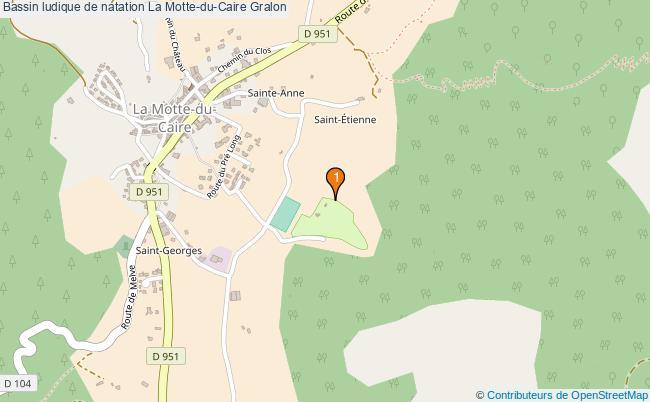 plan Bassin ludique de natation La Motte-du-Caire : 1 équipements