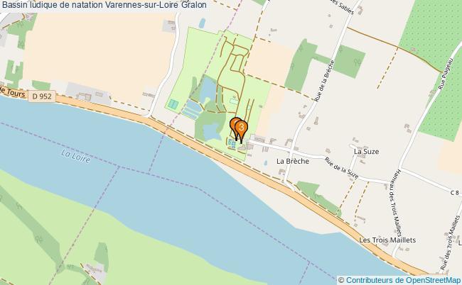 plan Bassin ludique de natation Varennes-sur-Loire : 3 équipements