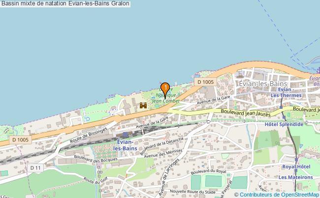 plan Bassin mixte de natation Evian-les-Bains : 1 équipements